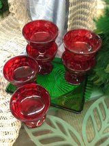 6 Red Glass desert Cups 2352-285 in Camp Lejeune, North Carolina