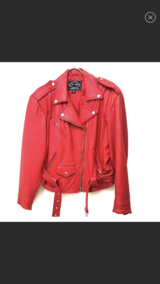 Red  Genuine Leather Jacket, the same as in the picture in Stuttgart, GE