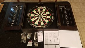 Viper Shotking Official Competition Dartboard in Cabinet NEW in Naperville, Illinois