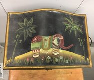 Box with elephant – hand painted in Yucca Valley, California
