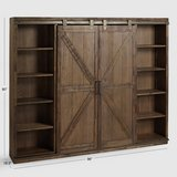Wood Farmhouse Barn Door Bookcase Entertainment Center in Sandwich in Chicago, Illinois