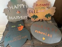 Fall Harvest Thanksgiving Handmade Wooden Signs in Nellis AFB, Nevada