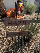 Happy Thanksgiving hanging sign in Nellis AFB, Nevada