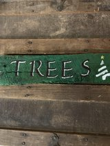 Christmas Tree Wooden Pallet Sign in Nellis AFB, Nevada