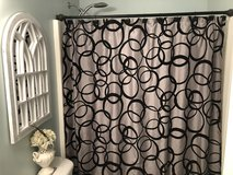 Gray and Black shower curtain in Columbus, Georgia