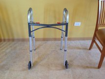 Standard Walker with front wheels (adjustable height) in Chicago, Illinois