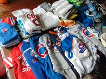 Boys 0-6M SUMMER LOT, Cubs, NEW with TAG, Hats, Carrier, Bath, Shoes, Shopping cart cover, Pack ... in Oswego, Illinois