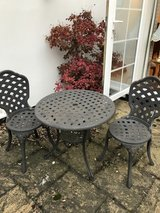Iron Table and chairs in Lakenheath, UK