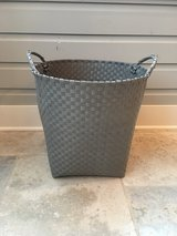 Extra Large LAND OF NOD Gray Strapping Storage Basket in Naperville, Illinois