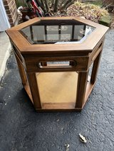 End table with glass top in Plainfield, Illinois