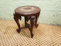 Highly Carved Elephant Table Free Delivery in Lakenheath, UK