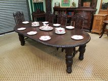 Carved Oak Extending Table Free Delivery in Lakenheath, UK