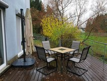 Patio Set and Hanging Umbrella in Ramstein, Germany
