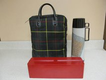 Vintage Thermos Lunch Tote in Plaid Case in Naperville, Illinois