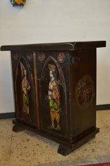 Antique Spanish Cabinet Nightstand. Handmade carved motifs. in Ramstein, Germany