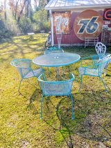 vintage heavy wrought iron patio set in Cherry Point, North Carolina
