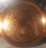 Solid copper serving platter in Yucca Valley, California