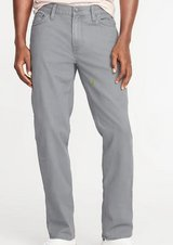 OLd Navy Straight Five-Pocket Twill Pants For Men - new - color gray stone in Spring, Texas