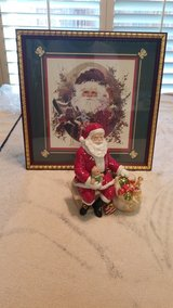 Vintage santa and picture in Travis AFB, California