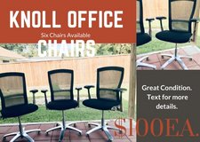 Knoll Aluminum Office Chairs in Bellaire, Texas