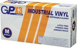 Gpx3 industrial vinyl disposable gloves medium/x-large in Wheaton, Illinois