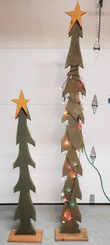 Wood XMAS Trees Decoration in Fort Campbell, Kentucky