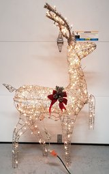 Lighted Reindeer Yard Decoration in Fort Campbell, Kentucky