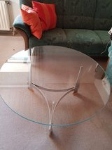 glass table from the 70ties !!! ORIGINAL 70ties !!!!Table, Couch-Table, round, in Ramstein, Germany