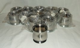Onieda Stainless Steel Sugar Bowls Hotel Hollowware 8 oz. NEW in Batavia, Illinois