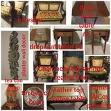 Antique parlor setee and complimenting items in Fort Leonard Wood, Missouri