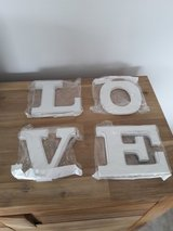 white wood letters LOVE in Ramstein, Germany
