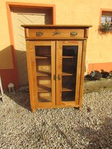 Vertiko softwood Antique cabinet glass cabinet in Ramstein, Germany