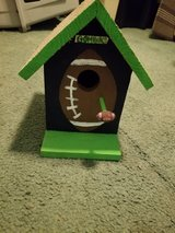 Seahawks and Cougars and Huskies Football Birdhouses in Tacoma, Washington