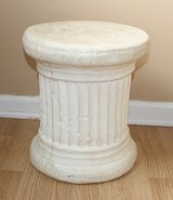 "White Solid Pedestal Side Table 14"" Tall in Sandwich, Illinois"