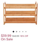 Shoe Rack Bamboo 3 Tier in Yucca Valley, California