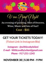 Vino Paint Night in Fort Lewis, Washington