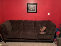 Brown 3 piece Sectional w/Chaise in Pasadena, Texas