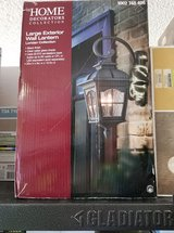 Square 2-Light Black Outdoor Wall Lantern Sconce in Fort Riley, Kansas
