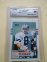 1989 Topps trader Troy aikman#70t in Yucca Valley, California