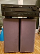 Stereo - Yamaha amp with 2x Sony 120W speakers in Stuttgart, GE