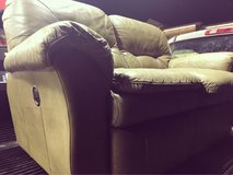 Reclining Leather Loveseat Couch $130 OBO in Hill AFB, UT