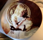 Christi's Kitty Collector plate by Richard Zolan in Glendale Heights, Illinois