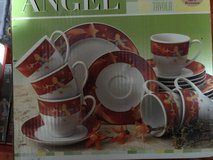 Angel dishes for Christmas in Ramstein, Germany