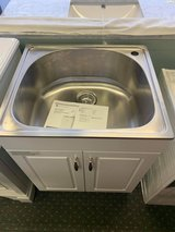 Stainless Steel Laundry/ Utility Sink and Cabinet in Fort Riley, Kansas