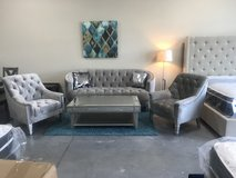 Gray Tufted Sofa 2 chairs & Cocktail Table in Beaufort, South Carolina