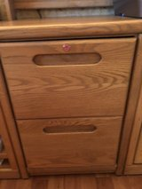 Two drawer wood filing cabinet in Joliet, Illinois