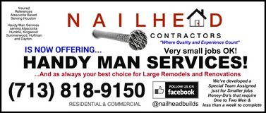 HOME IMPROVEMENTS - REMODELING! in Kingwood, Texas