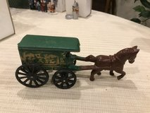 horse and wagon used w/ Christmas village in Naperville, Illinois