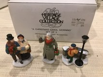 DEPT 56 HERITAGE VILLAGE ACCESSORIES ~ A Christmas Carol Morning (set of 3) in Joliet, Illinois