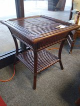 Square Faux Rattan Side Table in Glendale Heights, Illinois